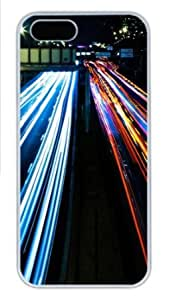 Apple iPhone 5S Case,iPhone 5S Cases - Highway Lights PC Custom iPhone 5S Case Cover for iPhone 5S - White