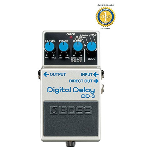 Boss DD-3 Digital Delay Pedal with 1 Year Free Extended - Delay Digital Dd7 Guitar Boss