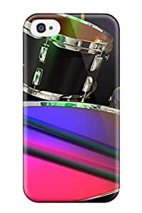 Hot Tpu Cover Case For Iphone/ 4/4s Case Cover Skin - Drums Music People Music