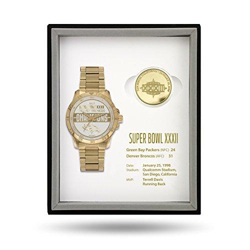 NFL Super Bowl Watch and Coin Gift Sets (Denver Broncos)