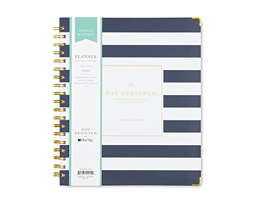 Day Designer for Blue Sky 2018-2019 Academic Year Weekly & Monthly Planner, Hardcover, Twin-Wire Binding, 8