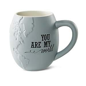 Global Love 61030 You are My World Stoneware Mug, 22 oz Pavilion Gift Company, Multicolored