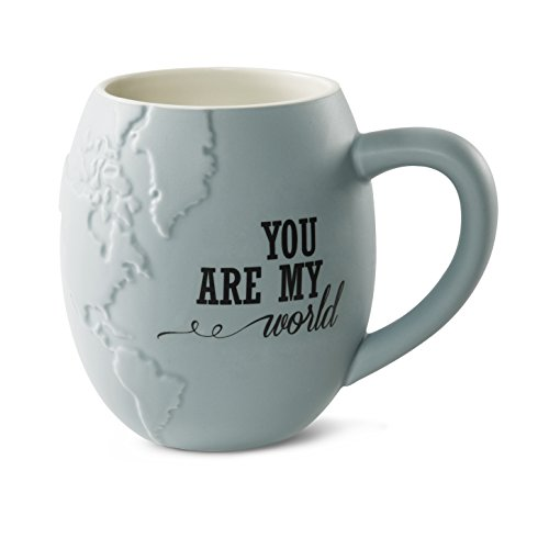 Pavilion Gift Company 61030 You are My World Stoneware Mug, 22-Ounce Capacityed