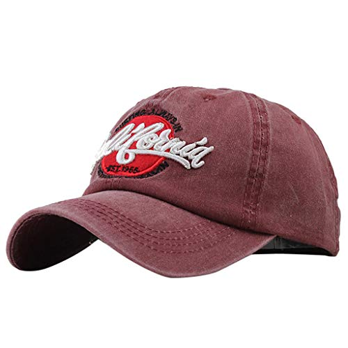 (Toponly Unisex Baseball Cap Distressed Vintage Unconstructed Embroidered Dad Hat Adjustable Outdoor Cotton)
