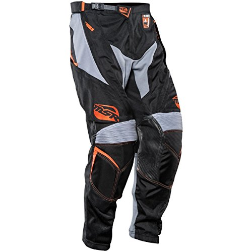 MSR Racing Xplorer Summit Men's Motocross Motorcycle Pants - Black/Orange / Size (Msr Mens Dirt Motorcycle)