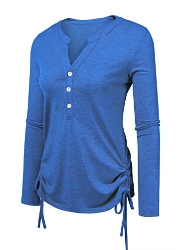 Beyove Womens Long Sleeve Thermal Cotton Henley Casual (Lightweight Thermal Knit Henley)