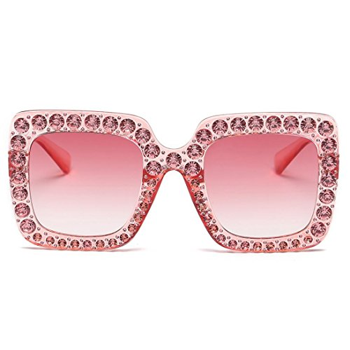 SUNGLASSES, FORTHERY WOMEN FASHION RETRO CLASSIC DIAMOND TRENDY STYLISH SUN GLASSES - Sunglasses Circle Cat Eye