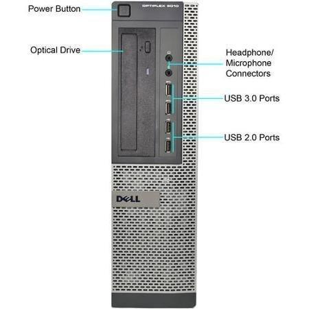 Dell Optiplex 7010 SFF Business Desktop PC, Intel Core i3 Processor, 4GB DDR3 RAM, 500GB Hard Drive, DVD ROM, Windows 7 Professional (Certified Refurbished)