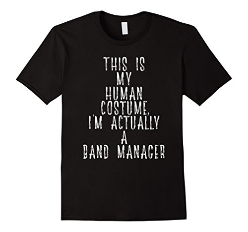 Mens My Human Costume - Band Manager Career Talent Scout Shirt Large Black