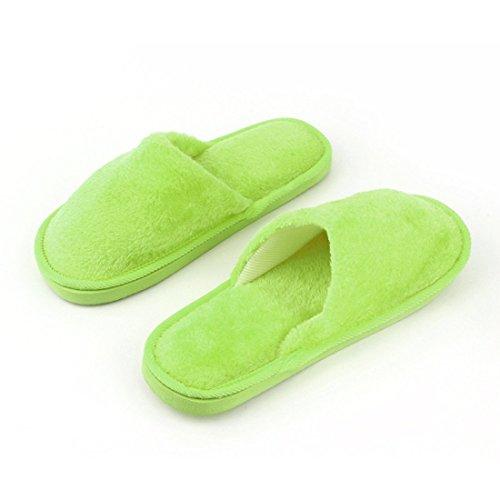 Anti Pantoufle Caoutchouc Slip Chaussures Maison Hommes Peluche Respirant Semelle Coton Maison Femmes Chaud Doux Silent en Semelle Maison en Intérieur Adulte RzqPdR