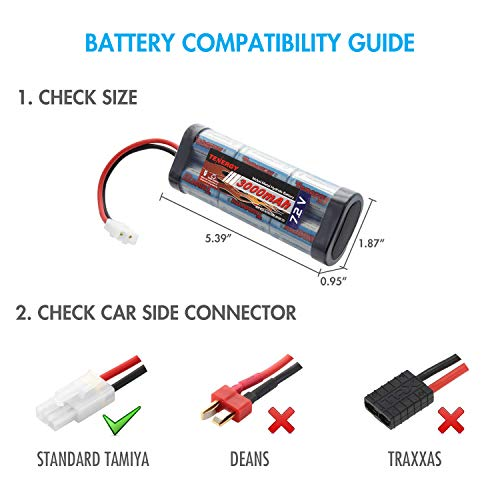 Tenergy 7.2V Battery Pack High Capacity 6-Cell 3000mAh NiMH Flat Battery Pack, Replacement Hobby Bat - http://coolthings.us