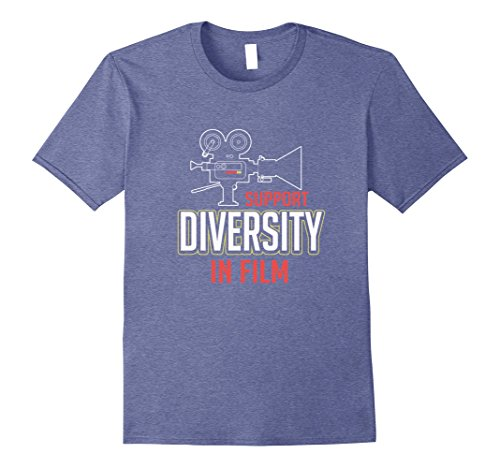 Mens Support Diversity In Film TV Hollywood T-Shirt 3XL Heather ()