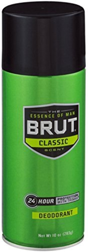 BRUT Deodorant Spray Classic Scent 10 oz (Pack of 5)