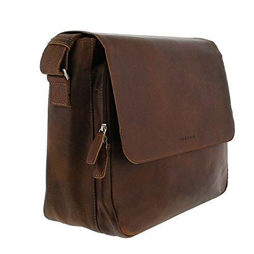 Plevier Vintage Laptop Messenger 2-vaks 15.6 Brown 35