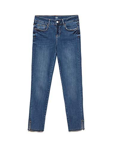 Blu Perle Size Skinny Metalliche Jeans Oltre Con italian agwpxfaZq