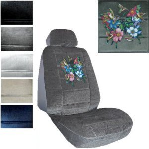 Seat Cover Connection Hummingbirds And Butterflies Print 2 Low Back Bucket Car Truck SUV Covers
