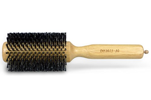 Professional Hair Round Brush With Pin Tail Dual Purpose, Boar Bristle/Nylon, 2.6-Inch Diameter