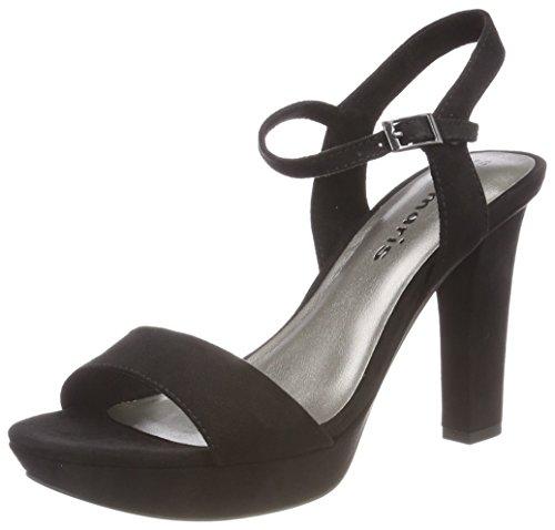 Arrière Tamaris Bride Noir Black Sandales Femme 28398 rttqnTwO