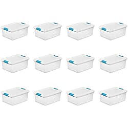 STERILITE 14948012 15 quart/14 L Latching Box (12 Pack)