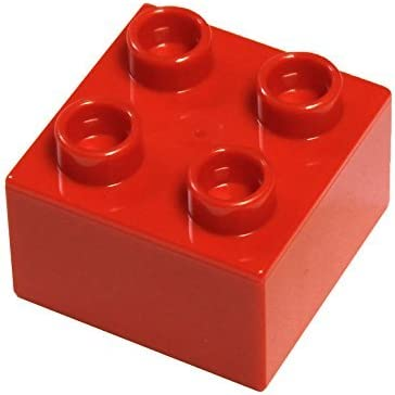 LEGO Parts and Pieces: Duplo Red (Bright Red) 2x2 Brick x20