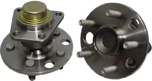 Brand New (Both) Rear Wheel Hub and Bearing Assembly for Beretta, Cavalier, Citation, Grand Am 5 Lug W/o ABS (Pair) 513012 x2 ()