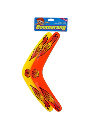 Toy Boomerang Assorted Colors 72 Packs of 2