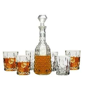 Nottingham 7pc Whiskey Decanter Set