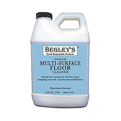 Begley's Best Earth Responsible All Natural Plant-Based Multi Surface Floor  Cleaner, Fresh Citrus Scent, 64 oz