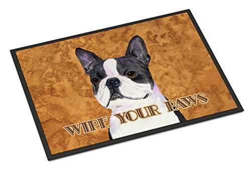 Caroline's Treasures Boston Terrier Wipe Your Paws Indoor or Outdoor Mat, 18