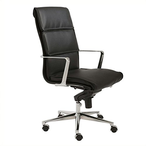 Eurostyle Leif High Back Office Chair in Black Leatherette &