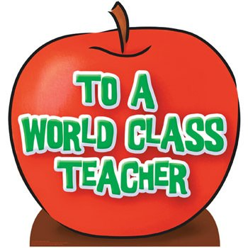 - Teacher's Appreciation Apple Cardboard Stand-Up