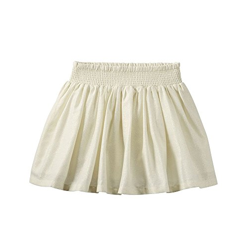 Carter's Girl Metallic Striped Skirt; Ivory & Gold - Striped Skort Skirt