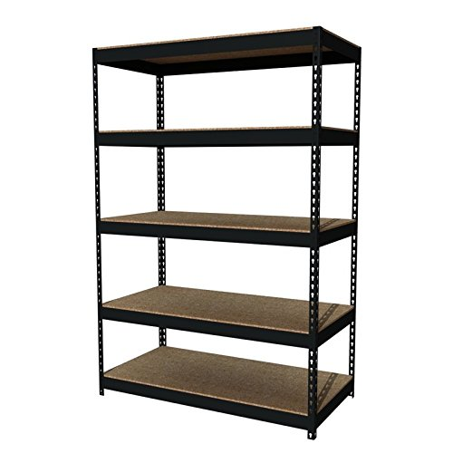 (Office Dimensions Riveted Steel Shelving 5-Shelf Unit, 48