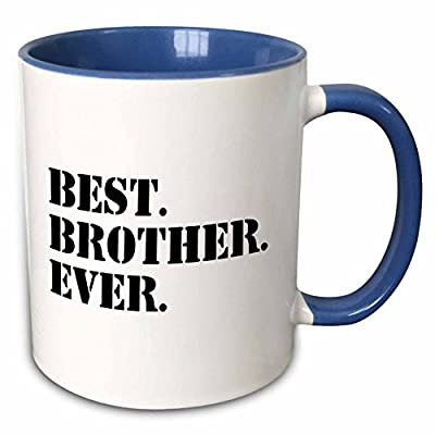 InspirationzStore Typography - Best Brother Ever - Gifts for brothers - black text - Mugs