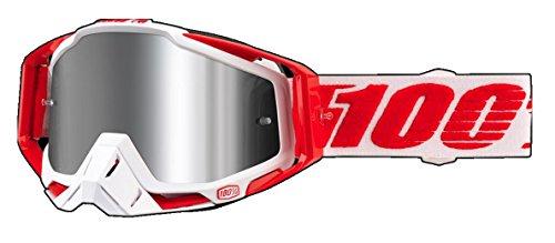 100% Racecraft - Masque - Plus Injected rouge/blanc 2018 masque de sport