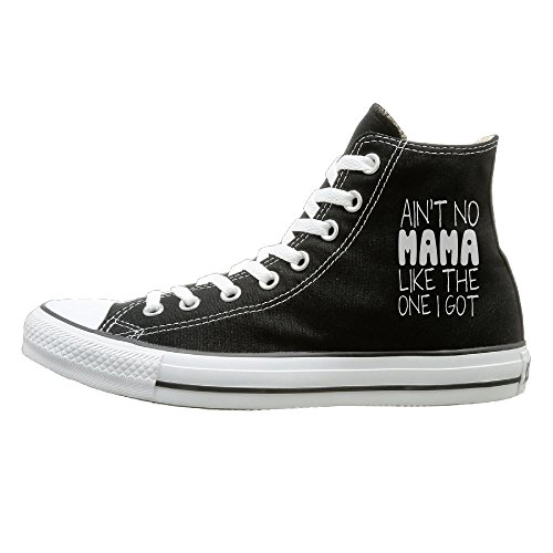 SH-rong Aint No Mama Like The One I Got High Top Sneakers Canvas Shoes Slip-On Casual Sneaker Unisex Style Size (Boogie Shoes Dance Costumes)