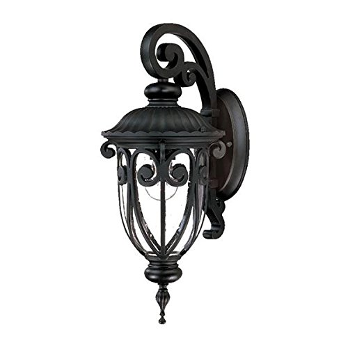Naples Decor - Acclaim 2102BK Naples Collection 1-Light Wall Mount Outdoor Light Fixture, Matte Black
