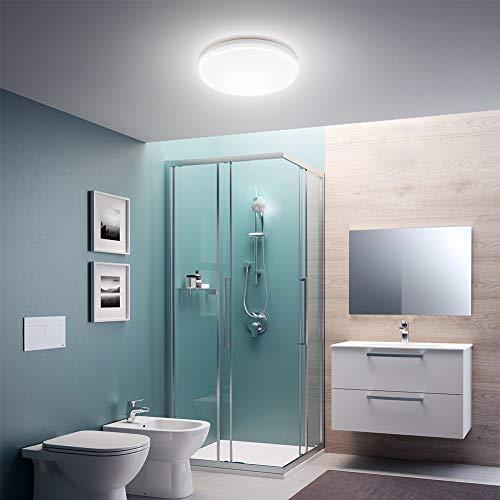 Bathroom Led Ceiling Light 22W Daylight Ceiling Light Ø 30cm Waterproof IP20 for Kitchen Bathroom Bedroom Hallway (2Pieces)
