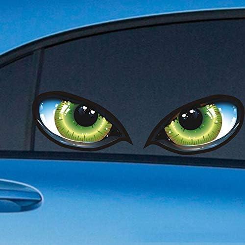 Appearanice 2 unids Realista 3D Ojos Pegatinas de Coches Calcoman/ía Reflectante Moda Cubierta del Motor del Coche Retrovisor Espejo Decoraci/ón para Coches Camiones
