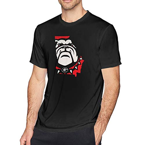 Aergaerg387 Georgia-Bulldogs Mens T-Shirt for Teenager Black 4XL