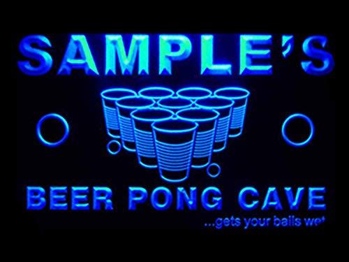 zed Custom Beer Pong Cave Bar Beer Neon Light Sign ()