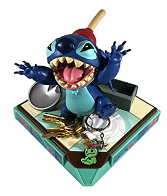 AlterEgo Disney's Stitch Compact Keypers Keychain Holder Statue on Multi-Functional Base