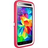 Otterbox Defender Series -Retail Packaging Protective Case for Galaxy S5-Neon Rose (Whisper White/Blaze Pink)