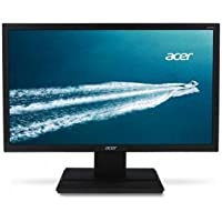 ACER #UM.IV6AA.A01 Acer V206HQL Abmd 19.5 inch Widescreen 1000000001 5ms VGADVI LED LCD Monitor w Speakers (Black)