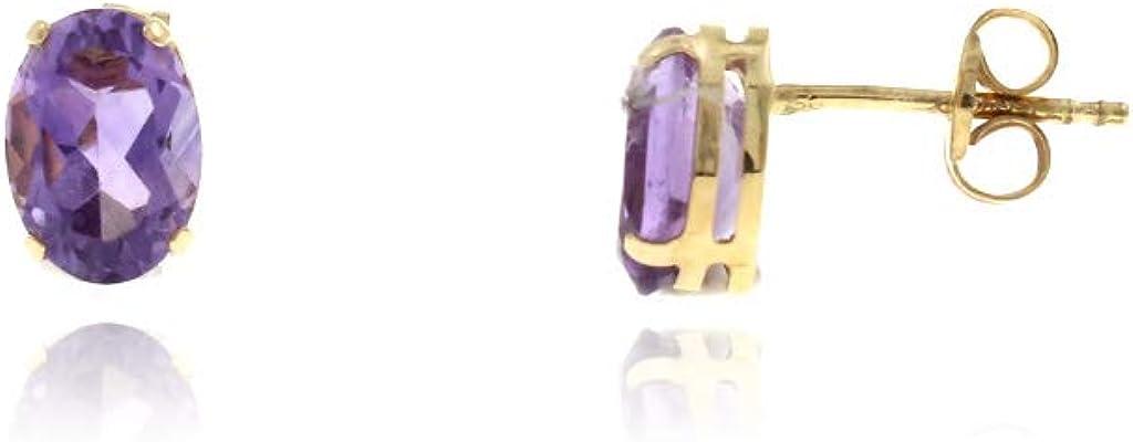 Pendientes mujer Circonita Color Violeta Oro 18kt 750 de ley