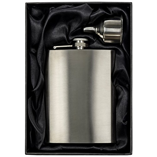 8 oz Hip Flask Set with Funnel: Stainless Steel Flask for Liquor in a Gift Packaging. Pocket Drinking Flask For Travel, Camping, or Any Occasion. An OUTSTANDING GIFT for Men or Women. by Simpler Life - Great Ideas For Your Life