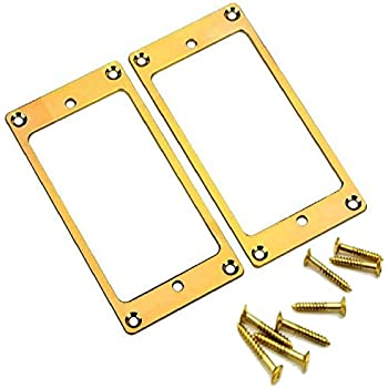 guyker 2pcs pickup mounting rings for humbucker metal pickups cover frame set. Black Bedroom Furniture Sets. Home Design Ideas