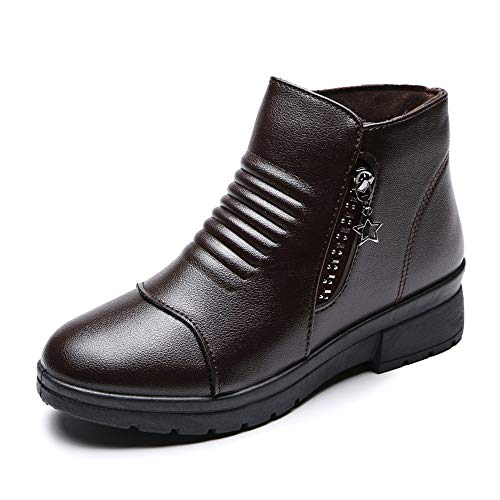 Women's Slip-On Leather Winter Short Warm Comfortable for sale  Delivered anywhere in USA