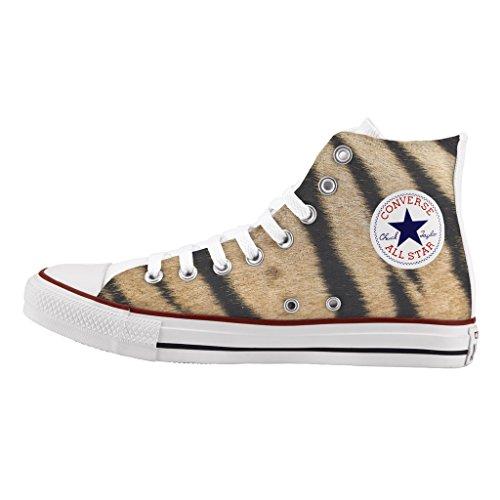 tiger Converse impresos e artesanía High de Personalizados zapatos xnq4UwRq1p