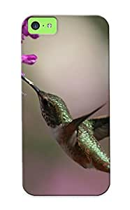 New Style Standinmyside Hard Case Cover For Iphone 5c- Nature Flowers Birds Hummingbirds Depth Of Field